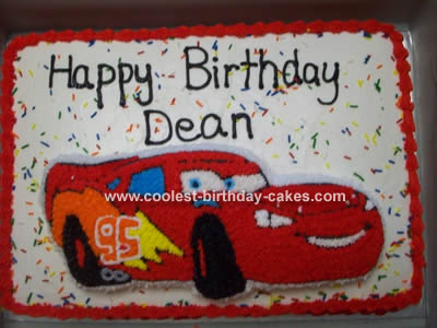 Lightning Mcqueen Sheet Cake Lighting mcqueen