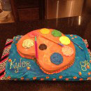 Artist Palette Birthday Cakes