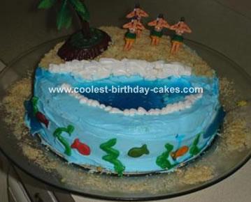 Luau Island Cake