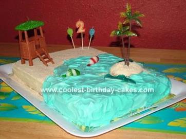 Luau Scene Cake