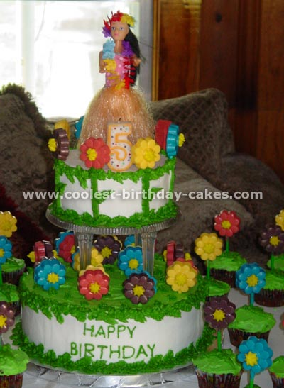 Coolest Hula Girl Cakes For A Luau Party Idea 9