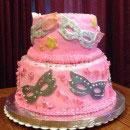 Mardi Gras Birthday Cakes