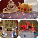 Medieval/Fantasy Birthday Cakes