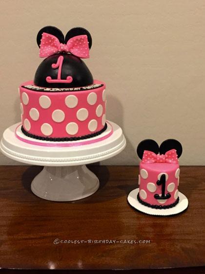 Minnie Mouse Smash Cake and Birthday Cake