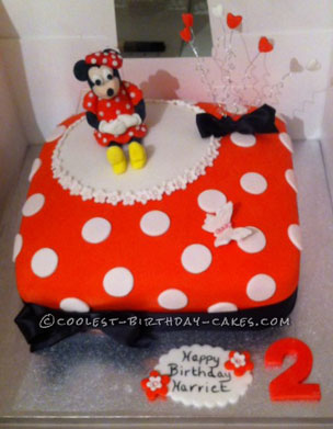 Coolest Minnie Mouse 2nd Birthday Cake