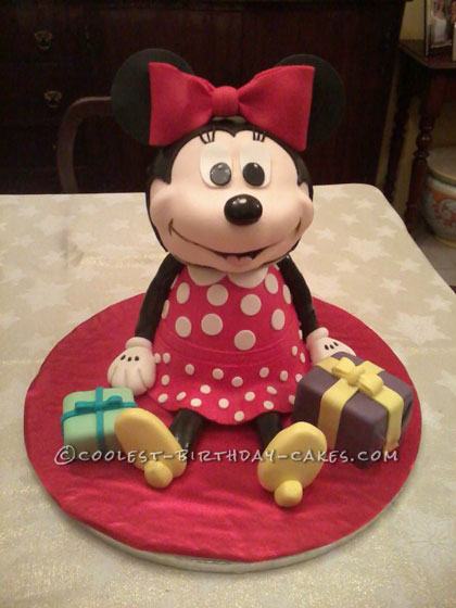 Coolest 3D Minnie Mouse Cake