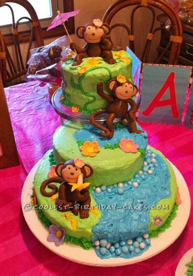 Marvelous Monkey First Birthday Cake