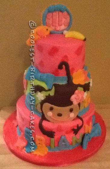 Just Hanging Around Monkey Cake