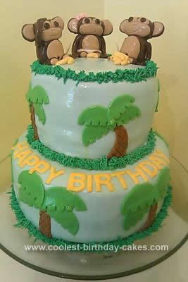 Coolest Monkey Birthday Cake Design
