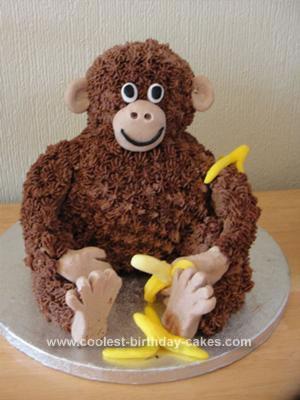 Coolest Sitting Monkey Birthday Cake