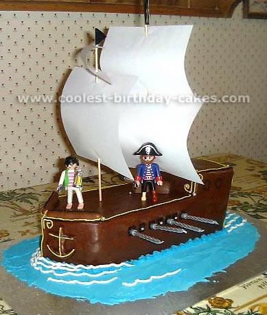 how to make a pirate cake uk