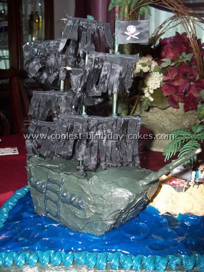 ... cake of the Black Pearl. I had never made pirate ship cakes so