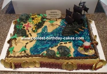 Birthday Cakes  Kids on Pirate Treasure Map Cake 3