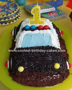 Birthday Cake on Police Car Cake 4