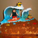 Surfing Birthday Cakes