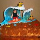 Surfing Birthday Cakes
