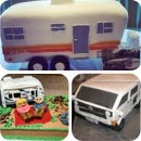 RV Campers and Caravans Birthday Cakes