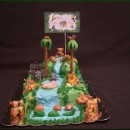 Safari and Jungle Birthday Cakes