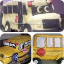 Bus Birthday Cakes
