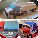Semi Trailer Birthday Cakes