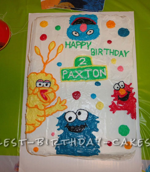 Simple Sesame Street Cake