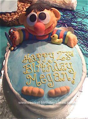 Coolest Homemade Ernie Birthday Cake