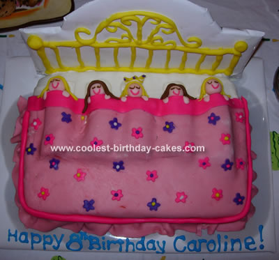 The dress up theme was a girls 8th birthday cake idea fit for a little