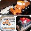 Snow Plow Birthday Cakes