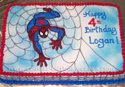 Spider Man Face Cake