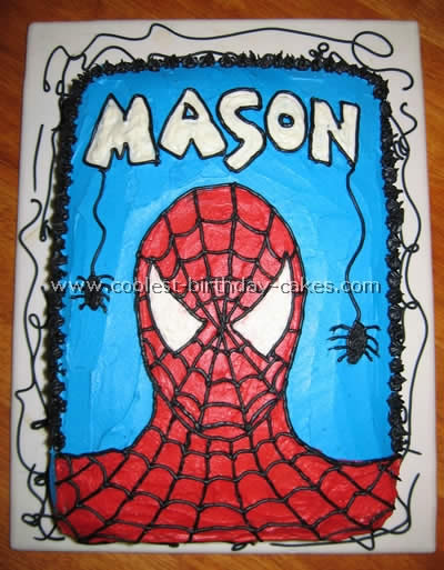 Coolest spiderman cakes for Spiderman template for cake