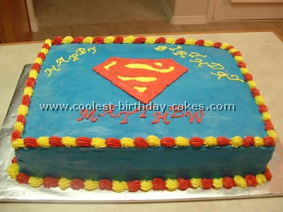 Coolest Homemade Superman Cakes