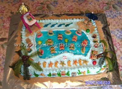 Coolest Homemade Swimming Pool Cake Ideas 8