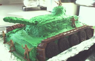 Tank cake for my Marine!