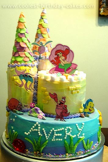 Coolest The Little Mermaid Cakes On The Web S Largest