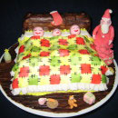 Christmas and Snow Scene Birthday Cakes