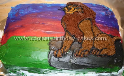 Coolest Lion King Theme Birthday Cake Photo Gallery And