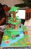 Homemade Animated Dora the Explorer Cake