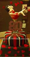 Homemade Betty Boop Birthday Cake