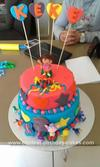 Homemade Dora Birthday Cake