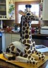 Homemade Giraffe Birthday Cake