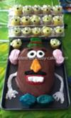 Homemade Mr. Potato Head Birthday Cake