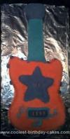 Homemade Rock Star Guitar Birthday Cake