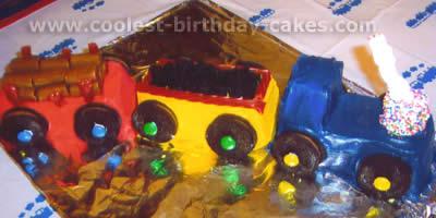 how to make a train cake easy