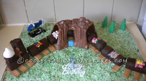 Coolest Train Birthday Cake