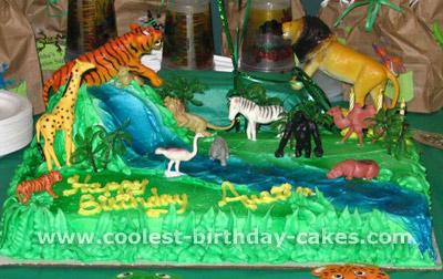 Birthday Cakes Jungle Theme ~ Coolest homemade construction scene cakes