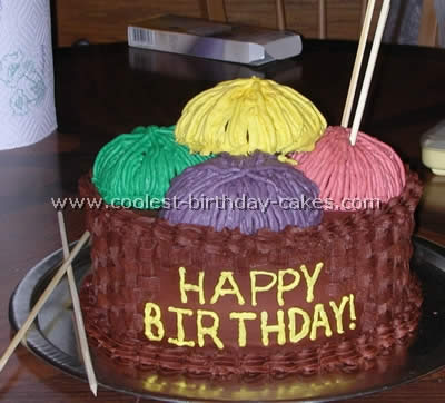 Coolest Homemade Knitting Cakes